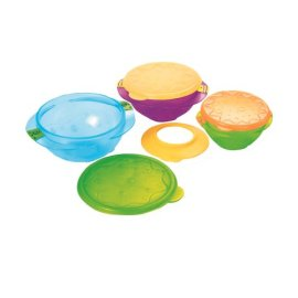 Sassy Baby Large, Medium, And Small Feeding Bowl Set, Multiple Colors