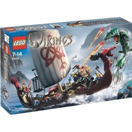LEGO® VIKINGS Ship Challenges the Midgard Serpent (7018)