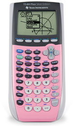 Texas Instruments TI 84 Plus Silver Edition Calculator (Pink)