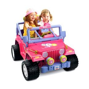 Fisher Price Power Wheels Barbie Jammin' Jeep