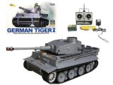 RC German Tiger Tank - Shoots Pettets - Smokes - Radio Remote Control - 1:16
