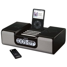 iHome IH8BR Clock Radio for iPod (Black)