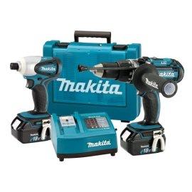 Makita LXT202 BHP451 18 Volt Hammer Drill & BTD140 18 Volt Impact Driver Lithium-Ion Combo Kit