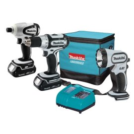 Makita LCT300W 18V Compact Lithium-Ion Cordless 3-Tool Combo Kit