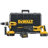 DEWALT DC2PAKCA Heavy Duty XRP 18-Volt Cordless 2-Tool Combo Kit, includes Hammer Drill and Reciprocating Saw