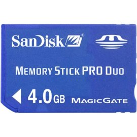 SanDisk SDMSPD-4096-A10M 4 GB Memory Stick Pro Duo