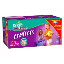 Pampers Cruisers, Size 7 (41lbs+) Economy Plus Pack (incl. 92 Diapers)