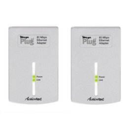 Actiontec MegaPlug 85 Mbps Ethernet Adapter Twin-Pack