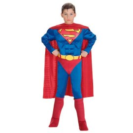 Super DC Heroes Deluxe Muscle Chest Superman Child's Costume