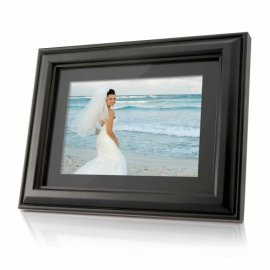 Coby DP-768 7-Inch Widescreen Digital Photo Frame with MP3 Player & 2 Wood Frames