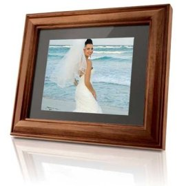 Coby DP-888 8-Inch Digital Photo Frame with MP3 Player & 2 Wood Frames