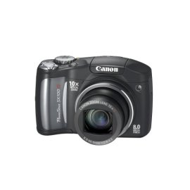 Canon PowerShot SX100IS 8MP Digital Camera with 10x Optical Image Stabilized Zoom