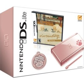 Nintendo DS Lite Metallic Rose with Nintendogs Best Friends