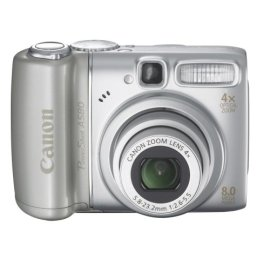 Canon PowerShot A580 8MP Digital Camera with 4x Optical Zoom