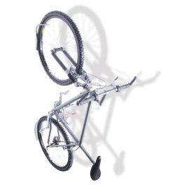 Delta Leonardo Single Bicycle Rack with Da Vinci Tire Tray - silver
