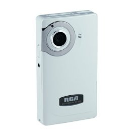 RCA EZ201 Small Wonder 60 Minute Point-and-Shoot Camcorder (White)