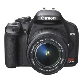 Canon Digital Rebel XSi 12MP Digital SLR Camera with EF-S 18-55mm f/3.5-5.6 IS Lens (450d)