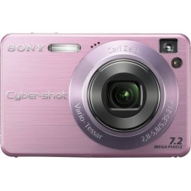 Sony Cybershot DSCW120/P 7.2MP Digital Camera with 4x Optical Zoom with Super Steady Shot (Pink)