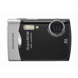 Olympus Stylus 850SW 8MP Digital Camera with 3x Optical Zoom (Black)