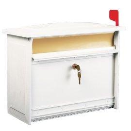 Solar/Gibraltor Extra-Large Locking Mailbox Mailsafe White