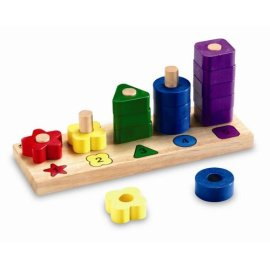 Learning Resources Woodshop Toys Rainbow Numbers