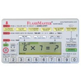 FlashMaster: Handheld computer for mastering multiplication tables that makes flashcards obsolete
