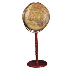 Commander II Globe on Floor Stand- Antique Ocean