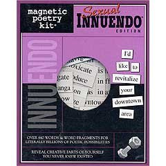 Sexual Innuendo Magnetic Poetry Kit