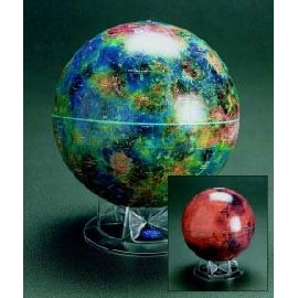 Mars Globe - 12 With Clear Acrylic Stand