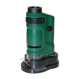 Carson Optical MicroBrite 20x-40x Zoom Pocket Microscope, Outdoor Green
