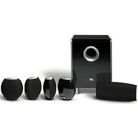 JBL CS480 Cinema Sound Complete 6-Piece Home Cinema Speaker System (Black Gloss)