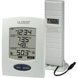 La Crosse Technology WS-9029U Wireless Weather Station with Digital Time - White