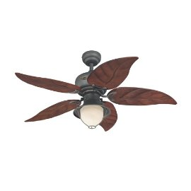 Westinghouse Oasis One-Light 48-Inch Five-Blade Indoor/Outdoor Ceiling Fan, Mahogany #78619