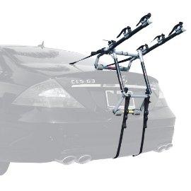 Allen 103S Premium 3-Bike Trunk Mount Rack - Black/Silver
