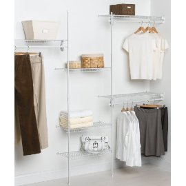 ClosetMaid SuperSlide 5-to-8-Foot Closet Organizer, White #5636