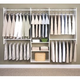 Easy Track 4-to-8-Foot Deluxe Tower Closet, White #RB1460