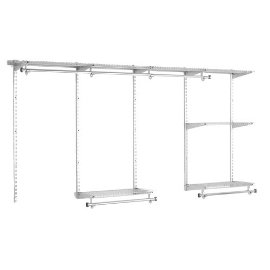 Rubbermaid Configurations 4-to 8-Foot  Classic Custom Closet Kit, Titanium (Satin Nickel) #FG3G5900TITNM