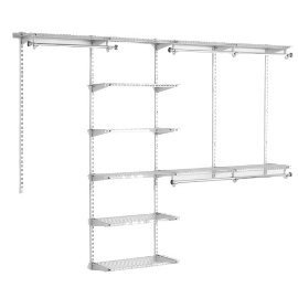Rubbermaid Configurations Deluxe Custom Closet Kit 3H89 (4' to 8', Titanium)