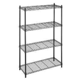 Whitmor 4-Tier Supreme Shelving - Black