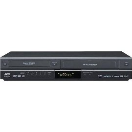 JVC DRMV100B 1080p Upconverting DVD Recorder VCR Combo with Built In Tuner