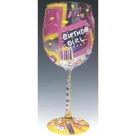 Lolita Wine Glasses Birthday Girl