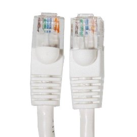 Ethernet Cable, CAT5e - 100 ft White