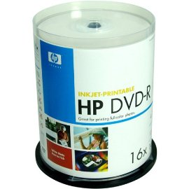 HP DVD-R 4.7GB 16x Inkjet-Printable 100 Spindle
