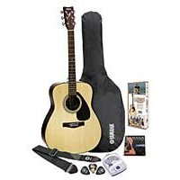 Yamaha F325 Gigmaker Standard Guitar Package with Natural Finish