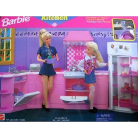 Barbie - Kitchen Playset For Folding Pretty House - 1996 Arcotoys Mattel