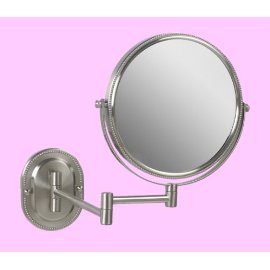 Elegant Wall Mounted Nickel Make up Mirror Strong 7x for Makeup