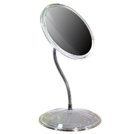 Gooseneck Vanity 7X Mirror with Clear Acrylic Frame