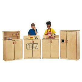 Jonti-Craft 0210SA SCHOOL AGE BIRCH REFRIGERATOR