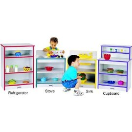 Jonti-Craft 0406JCWW180 Toddler Refrigerator - Black