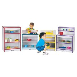 Jonti-Craft 0407JCWW005 TODDLER CUPBOARD - TEAL